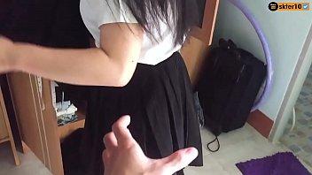 เย็ดสาวมหาลัยคาชุด